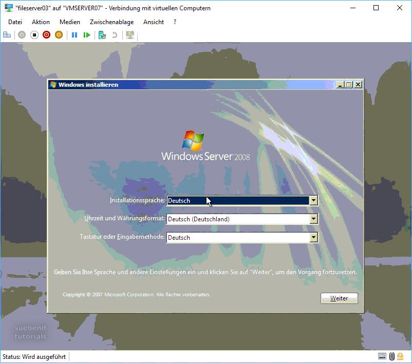 Windows Server 2008 Installation
