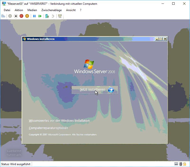 Windows Server 2008 jetzt installieren