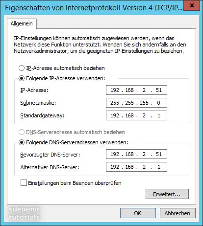 IP-Adresse einstellen im zu Hause Netzwerk