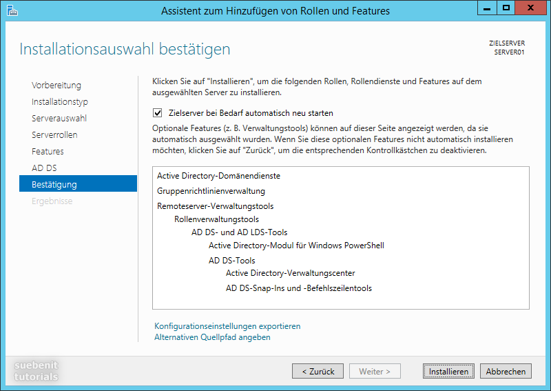 Server 2012 R2 Active Directory Installation