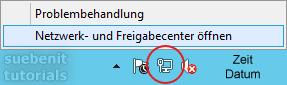 Windows Server 2012 r2 Netzwerk- und Freigabecenter aufrufen