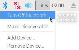 Bluetooth ausschalten