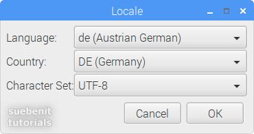 Raspberry Pi Configuration set locale de germany deutsch Deutschland