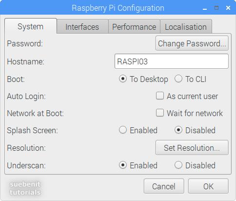 Raspberry Pi Configuration Register System