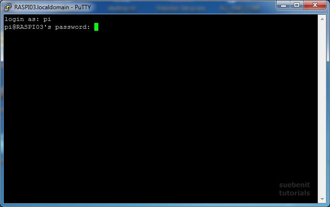 Raspberry Pi SSH Shell Login