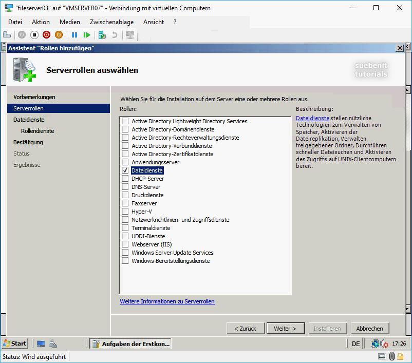 Windows Server 2008 als Fileserver durch-rolle-dateidienste
