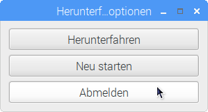 Raspbian Pixel Desktop Abmelden Logout