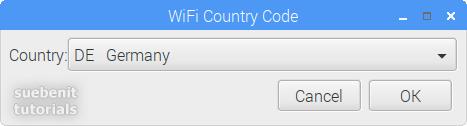 Raspberry Pi Configuration set WiFi Country Code de germany deutsch Deutschland