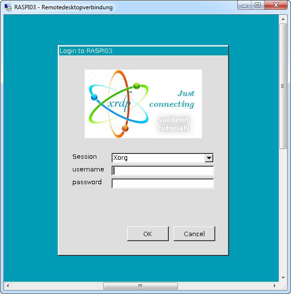xrdp login screen window remotedesktop